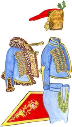 Гусар 2-го гусарского полка. 1742 год.