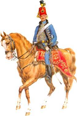 Гусар 2-го гусарского полка. 1772 года.