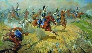 Атака лейб-гвардии Кирасирского его величества полка в 1813 году. 1911