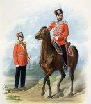 Рядовой и Обер-офицер лейб-гвардии Казачьего полка (городская парадная форма) 10 июля 1867 года.