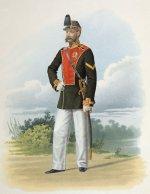 Фельдфебель лейб-гвардии Гатчинского полка (в воскресной форме) 18 июля 1863 года.
