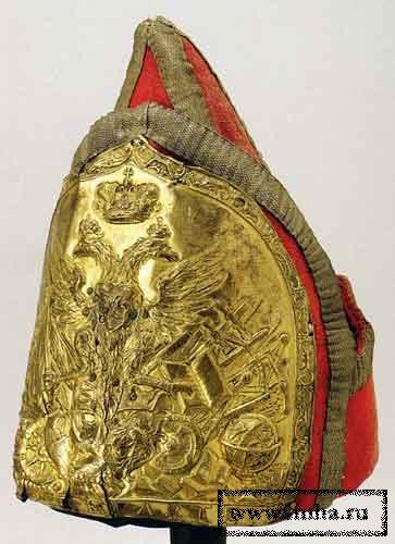 Шапка гренадерская офицерская Сухопутного Шляxетного Кадетского корпуса, 1731-1740 гг.