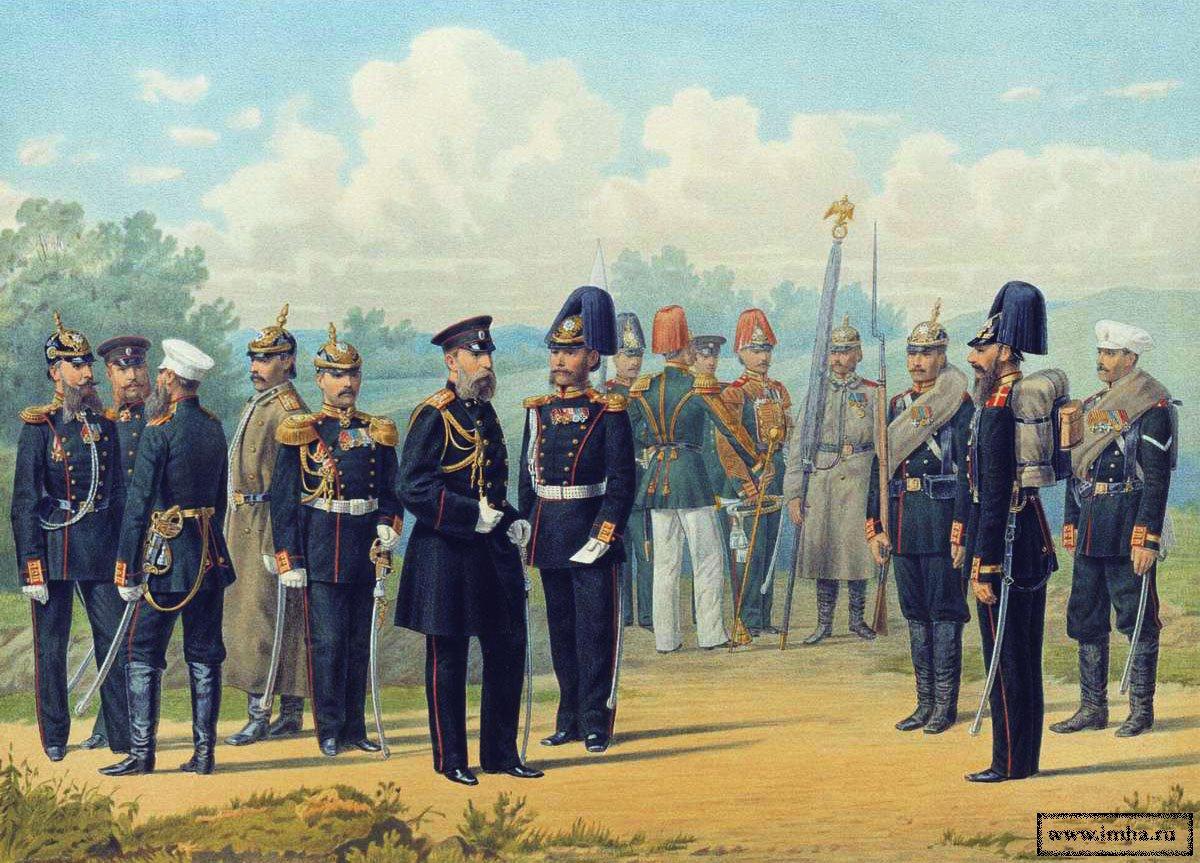 Чины Лейб-Гвардии Финляндского полка в 1872-1881 гг.