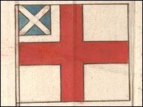 Первые варианты флага королю Якову не понравились ...