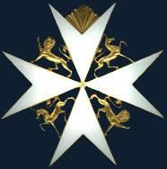 Орденский знак протестантского Достопочтеннейшего (Досточтимого) Ордена св. Иоанна (Джона) в Британской Державе.