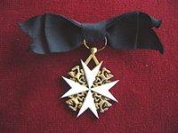 Орденский знак протестантского Нидерландского Ордена иоаннитов