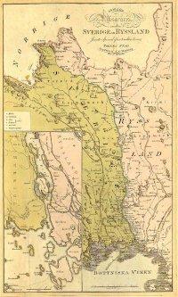 Шведская карта Финляндской войны (Шведско-Русской войны) 1808-1809 гг.
