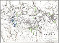 Схема переправы французов через Березину в ноябре 1812 года
