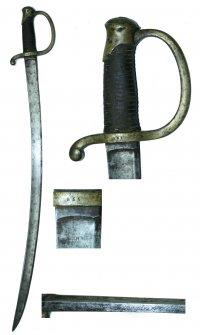 Сабля драгунская солдатская образца 1841.