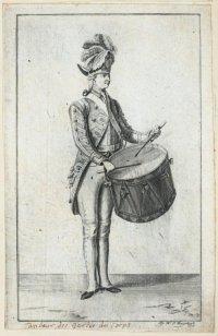 Барабанщик Гвардейского корпуса в 1795 г.