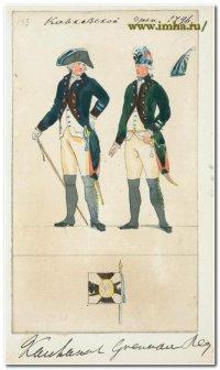 Кавказский гренадер в 1796 г.