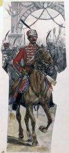Болгарский Гвардейский гусар-офицер.