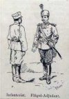 Болгарский пехотинец и флигель-адъютант.