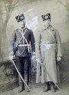 Офицер и кавалерист 1-го кавалерийского полка.