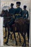Штаб-офицер с адъютантами. 1885 г.