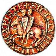 Печать Ордена Храма (с изображением 2 храмовников на 1 лошади).