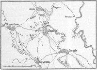 Схема сражения при сел. Перед 9 июня 1849 г.