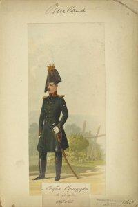 Русский обер-офицер в сюртуке. 1809-1812 гг.