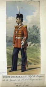 ЗнаменосецЛейб-Гвардии Казачьего полка в 1880 г.