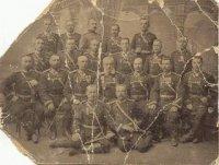Офицеры 147 Самарского пехотного полка. Михайлов Павел Михайлович- второй ряд снизу, крайний правый. Фото из архива И. Михайлова.