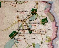 Карта А.И. Мендэ, сер.XIX в.Касимовский уезд, д. Сеитово – земли обозначены № 267.