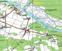 Современная карта Касимовского района – положение дд.Баишево и Сеитово.