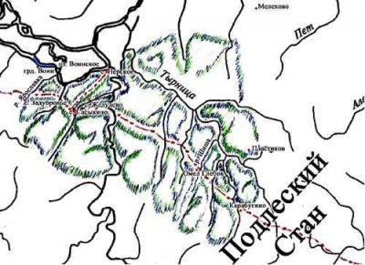 Карта локализации Шишевского леса.