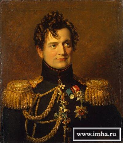 Ожаровский, граф Адам Петрович, генерал-адъютант, генерал откавалерии. Портрет Д. Доу.