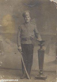 Серков Трофим Михайлович, уроженец деревни Сосновка Куртамышского района. Действующая армия, 11-я Сибирская Стрелково-артиллерийская бригада, 8-я батарея, 15 июля 1917 года.