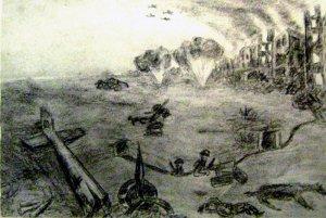 Северная окраина Сталинграда. Октябрь 1942 г. Из фронтового блокнота В. В. Мысева.