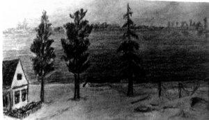 Река Неман. Из фронтового блокнота В. В. Мысева.