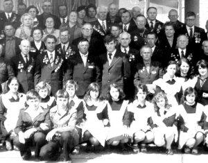Встреча фронтовиков, посвященная 35-летию Победы в Шиловской средней школе № 1. 1980 год, 9 мая – День Победы.