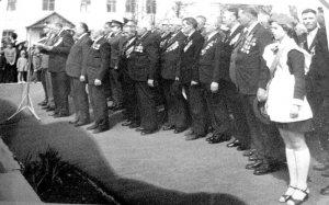 9 мая 1980 года. Фронтовики Шилова и 324-й Верхнеднепровской Краснознаменной стрелковой дивизии у Мемориала воинской Славы.