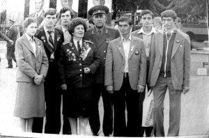 Город-Герой Минск. Рязанская делегация с легендарной летчицей Мариной Попович. Девятый Всесоюзный слет (этап) - сентябрь 1980 годаК этому времени по официальным данным во Всесоюзном походе принимали участие 58 миллионов человек.