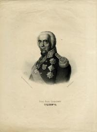Граф Иван Васильевич Гудович. Г.С. Седов. 1857. Литография.