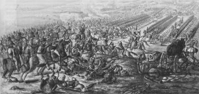 Кавалерийская атака. Эпизод сражения при Фер-Шампенуазе. Эскиз неизвестного художника. 1816-1818 гг.