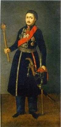 Портрет Атамана Войска Донского В.П. Орлова. Неизвестный художник. 1800 г.