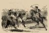 Гравюра. Сражение при Гирсове 1773. Нападение турок на Суворова. Коцебу.