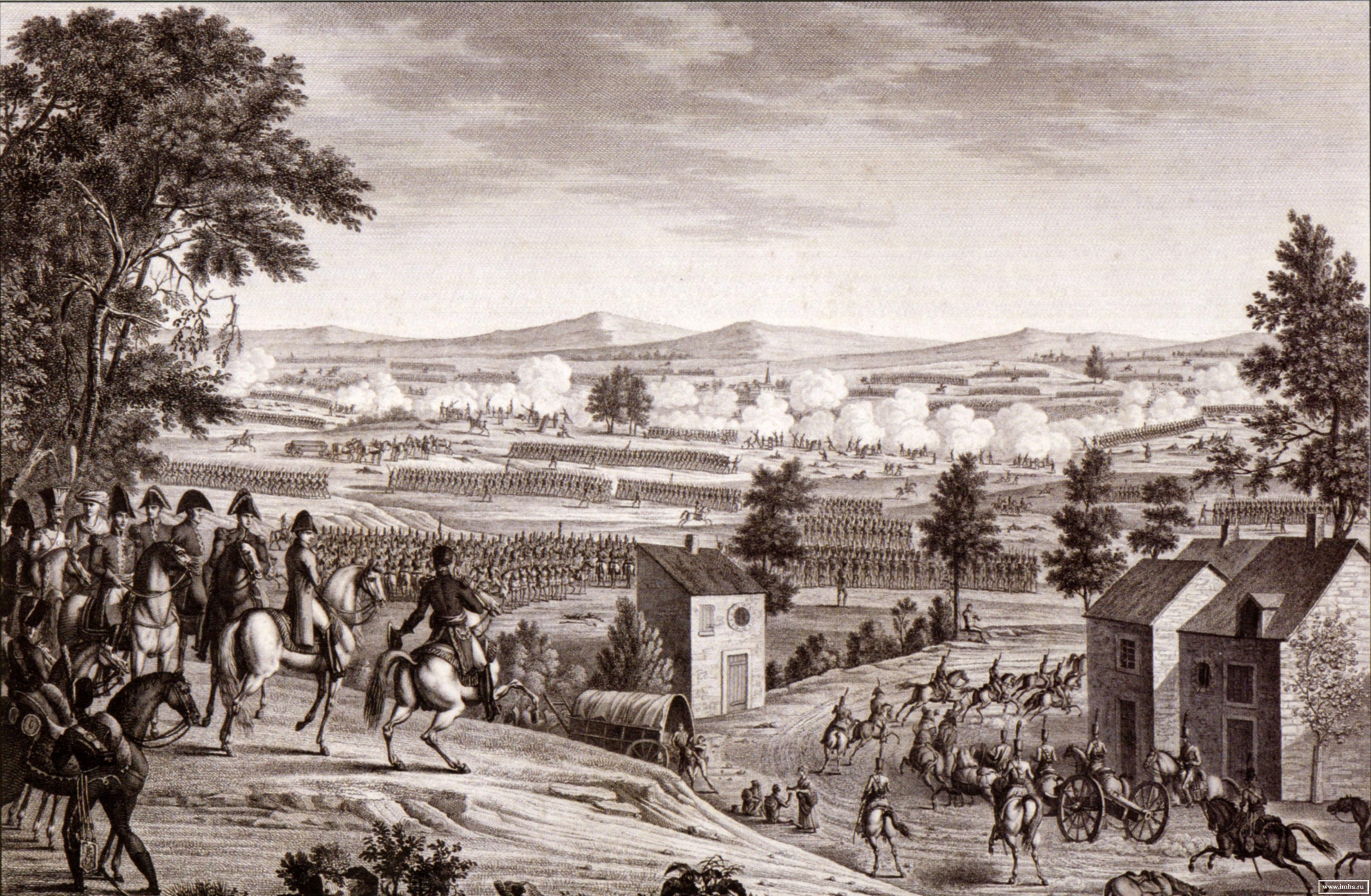 Сражение при Люцене 20 апреля/2 мая 1813 г. Э. Бовине. 1810-е.