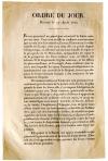 Приказ фельдмаршала князя К.Ф. Шварценберга по австрийской армии о вступлении Австрии в число союзных держав, воюющих против Наполеона. 5/17 августа 1813 г. ГИМ.
