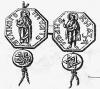 Печать Великого Князя Московского Ивана Даниловича (Калиты) с ясно различимым (в нижней части печати)