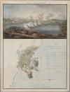 Картина и карта сражения при Ратане, состоявшегося 20 августа 1809 года.