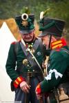 Прусский королевский егерь (современный военный реконструктор) с Железным крестом
