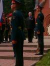 Член Совета Международной Военно-Исторической Ассоциации Вольфганг Акунов на Братском военном кладбище в Москве 1.8.2015