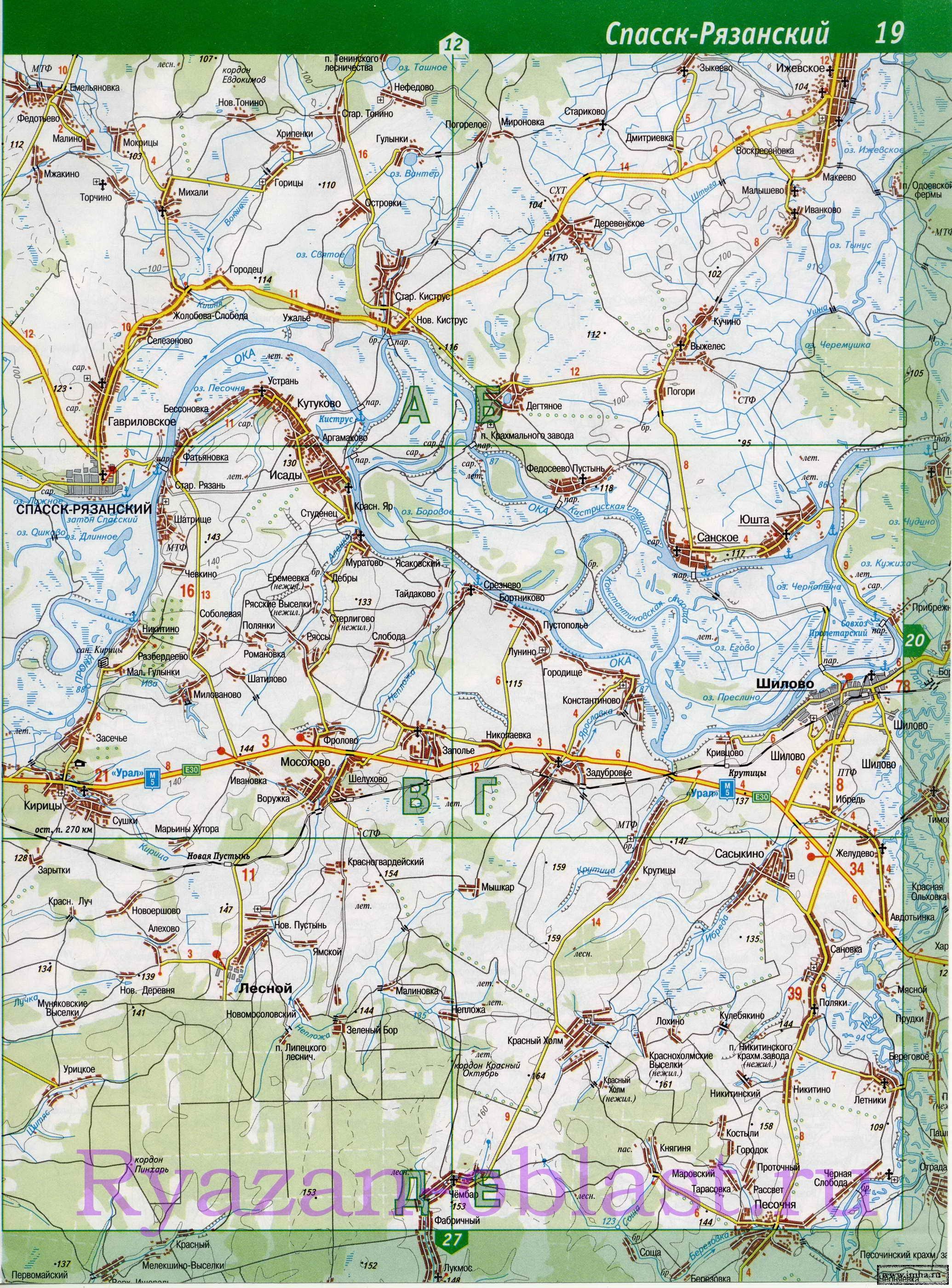 карта рыбака рязанской области