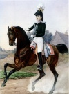 Гвардейский кавалерийский адъютант по тяжелой артиллерии. 1815-1825 гг. Неизвестный художник. 1850-е.