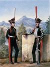 Бомбардир и трубач конной артиллерии. 1814-1816 гг. П.К.Губарев и П.И,Разумихин. 1850-е.