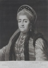 Портрет Екатерины II. Великобритания, Лондон, 1773 г. Гравер: Дикинсон, Уильям. Бумага, гравюра черной манерой (меццо-тинто)