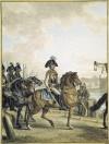 Князь Потемкин-Таврический с кавалерийским отрядом на набережной Невы. 1798.
