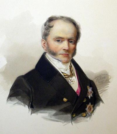 Гау В.И. 1816-1895 Портрет кн. Д.В. Васильчикова, Россия, 1837 г., ГЭ